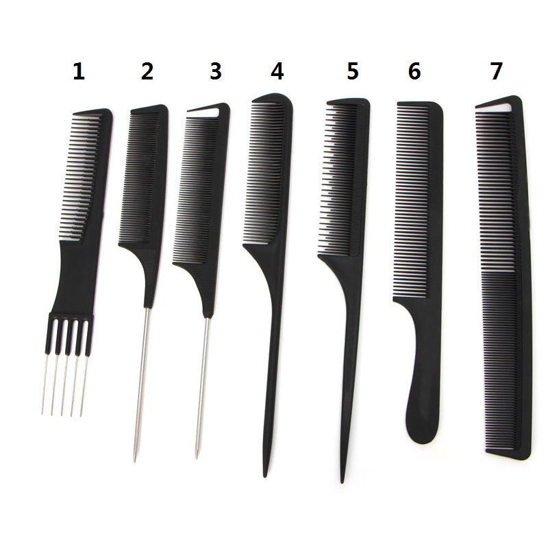 comb style hair bands 7 types black tooth comb metal pin hairdressing hair 6782