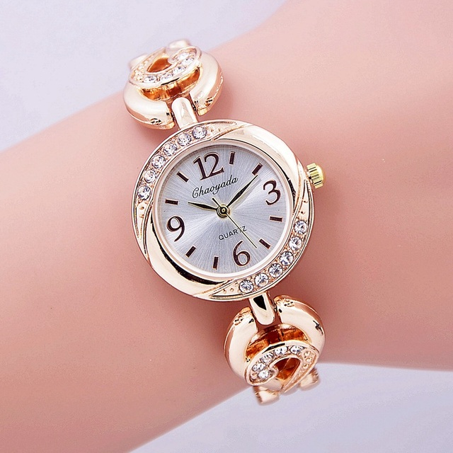 2016 Fashion Female Bracelet Watch Women Ladies Quartz Wrist Watches Bling Cryst