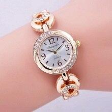 Мода 2016 года женский браслет часы Для женщин дамы кварцевые наручные Часы Bling Crystal аналоговые часы женские платье Смотреть Montre Femme
