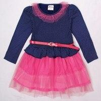 Girls Dresses Children Clothes Printed Dots Nova Brand Kids Wear Fashion Long Sleeve Dress Casual Princess