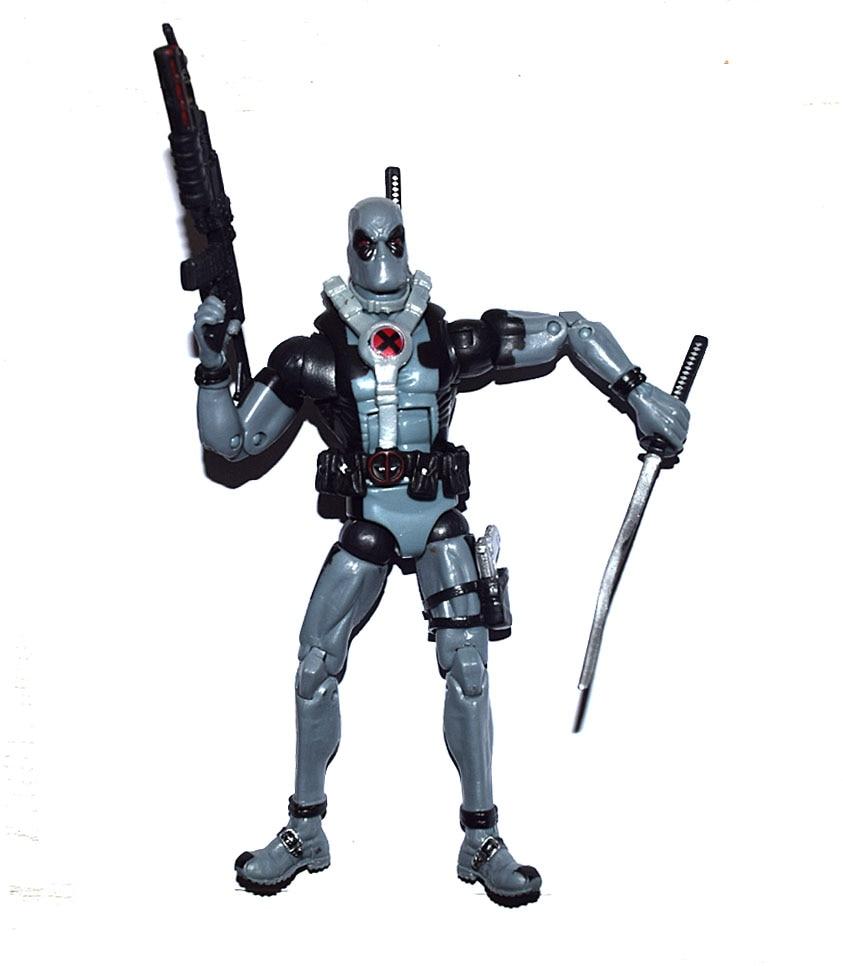 Marvel Legends Comic Super Hero X Force Deadpool Gray Suit Action Figure Loose
