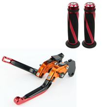 For HONDA CBR1000RR CBR 1000RR 2004 2005 2006 2007 CNC Folding Foldable Extendable Clutch Brake Levers and Handlebar Grips new folding extendable motorcycle cnc brake clutch levers for honda cbr1000rr fireblade 2004 2007 2005 2006