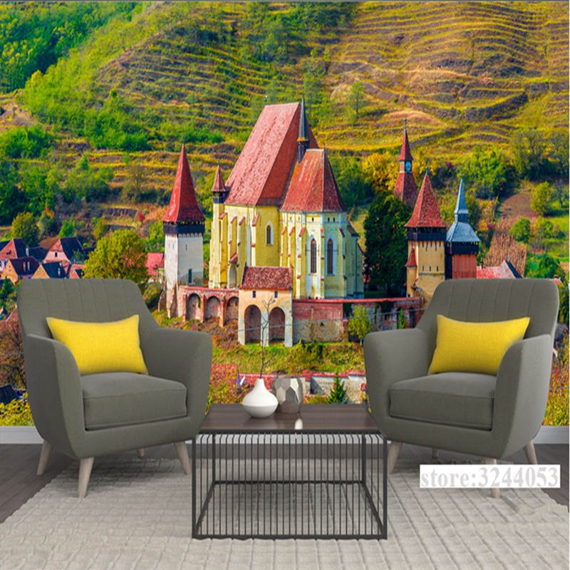 Photo Wallpaper Murals Customize Romania Castle 3d Photo Wall Paper Embossed Non-Woven Bedroom Study Kitchen Interior Wallpaper romania moldova autokarte румыния молдова автокарта 1 500 000