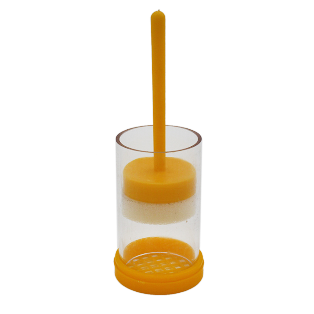 Plastic Beekeeping Tools Queen Bee Marker Marking Cage Bottle with Plunger