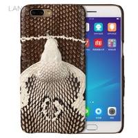 Wangcangli Brand Phone Case Real Snake Head Back Cover Phone Shell For OPPO  R11 Plus Full e2f3df05ab4f
