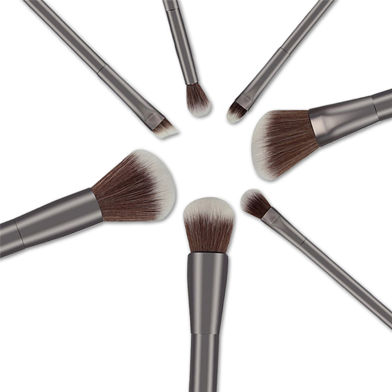 7pcs Makeup Brushes Set Soft Thick Nylon Eye Foundation Powder Eyeshadow Blending Blush Brush Face Make Up Cosmetic Tools Kit 8pcs beauty makeup brushes set eyeshadow blending brush powder foundation eyebrow lip cosmetic make up tools pincel maquiagem