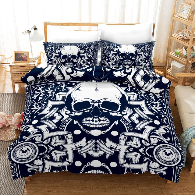 3D SKULL THEMED BEDDING SETS II (5 VARIAN)