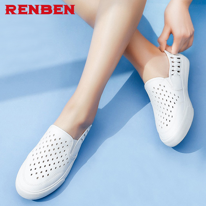 2018 Summer women genuine leather flats women platform sneakers creepers cutouts slip on flats moccasins shoes women цена 2017