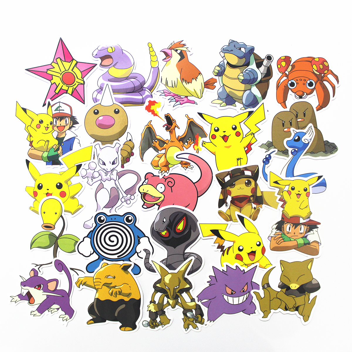 NEW 80Pcs Anime Pikachu Waterproof Laptop Car Stickers For Trunk Skateboard Guitar Fridge Decal Toy Stickers
