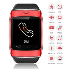 นาฬิกาข้อมือนาฬิกาบลูทูธโทรศัพท์สมาร์ทsmartwatchซิงค์smsโทรสมุดโทรศัพท์androidสำหรับsamsunggalaxys5/s4/s3/note2/not3