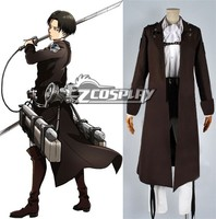 Attack on Titan (Shingeki no Kyojin) Special Night Fighting Soldiers Maneuver Rivaille Levi Cosplay Costume E001 cotton+polyster