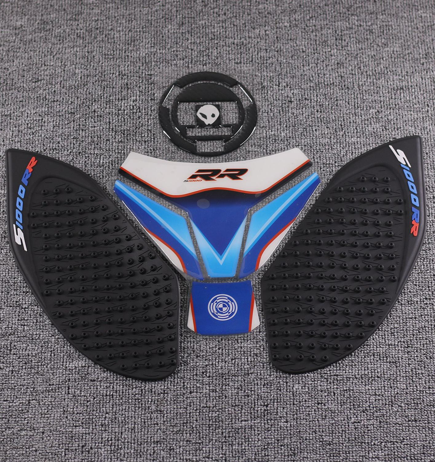 For BMW S1000RR S1000 RR HP4 Tank Cover Protector Motorcycle Carbon Fiber Fuel Tank Cap Sticker Pad Anti Slip Traction Decal