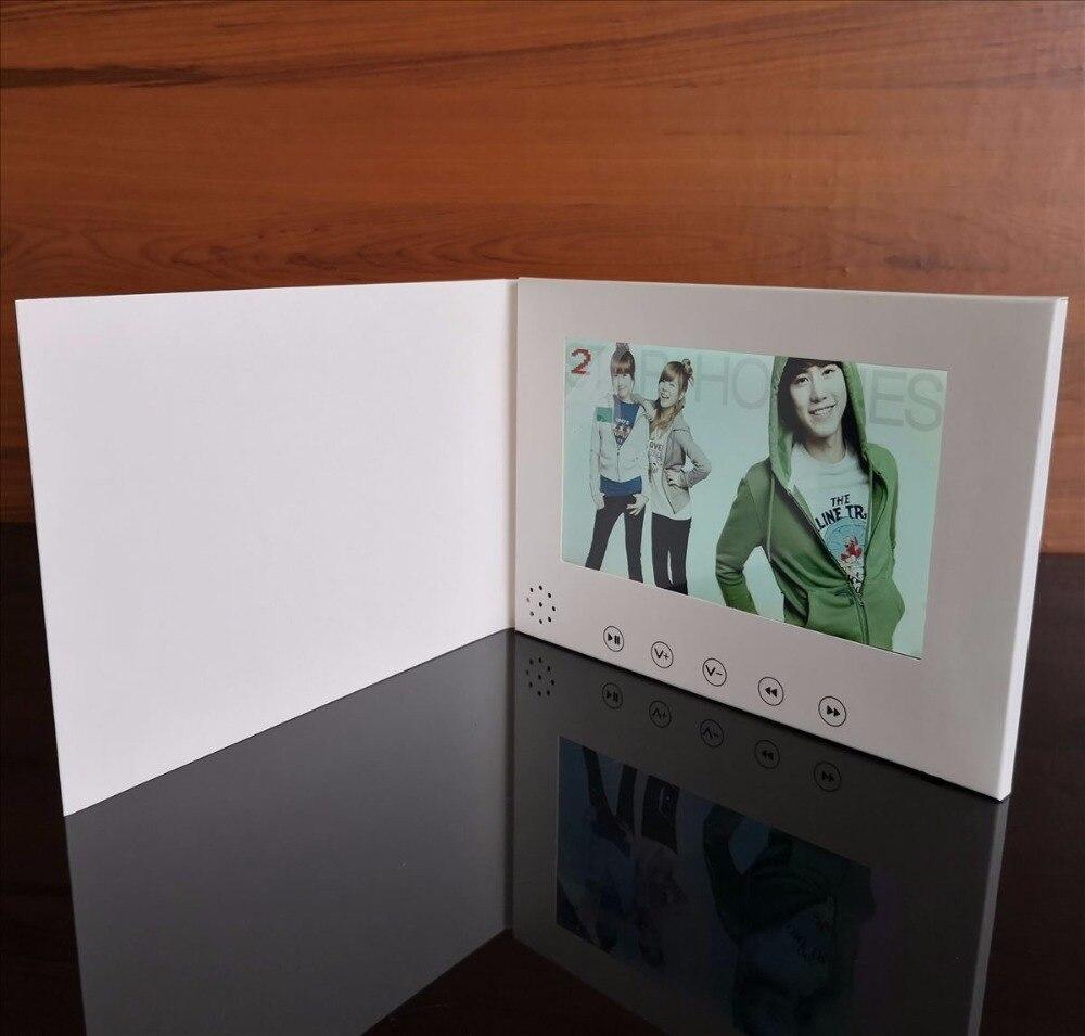 Freies Verschiffen 7 Zoll Video Broschüre Hd Broschüre Universal Video Grußkarten Mode Design Video Werbung Karten Unterhaltungselektronik Mp4 Player