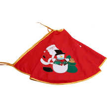1pc Christmas Santa Claus Tree Skirt Embroidery Decoration Ornaments Xmas Tree Apron Gift Happy New Year Scene Supplies YL890746