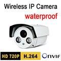 Frete grátis cctv ao ar livre câmera ip 720 p 1.0mp hd p2p plug jogar night vision ir à prova d' água luz de segurança onvif seguranca