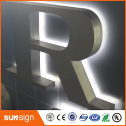 OEM factory price stainless steel lighting custom outdoor sign