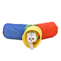 Hot Pet Toys For Cat Tunnel Colorful Style Pet Supplies 4 Holes More Fun Rabbit Kitten Tunnel Stitching Colors Puppy Dogs