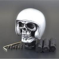 New Silver Skull Universal Car Truck Manual Gear Stick Shift Lever Knob Shifter