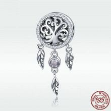 BK Women Pendant S925 Sterling Silver Jewelry Dreamcatcher DIY Necklace for Valentines Day/Birthday Gift