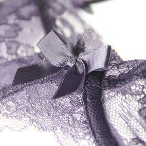 Image 4 - רקמת תחרה סקסית אופנה דק תחתוני סט bowknot שקוף נשים חזיית סטי חזיות ותחתונים קיץ הלבשה תחתונה חליפות