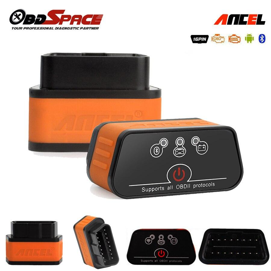 Prix pour ELM327 Obd2 Scanner Ancel iCar2 icar 2 Bluetooth De Voiture De Diagnostic Lecteur de Code Réel V1.5 Pour Android Téléphone Couple Outil De Diagnostic