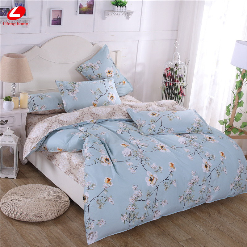 Morden bedding set 4pcs bedding housse de couette ab side for Housse de duvet