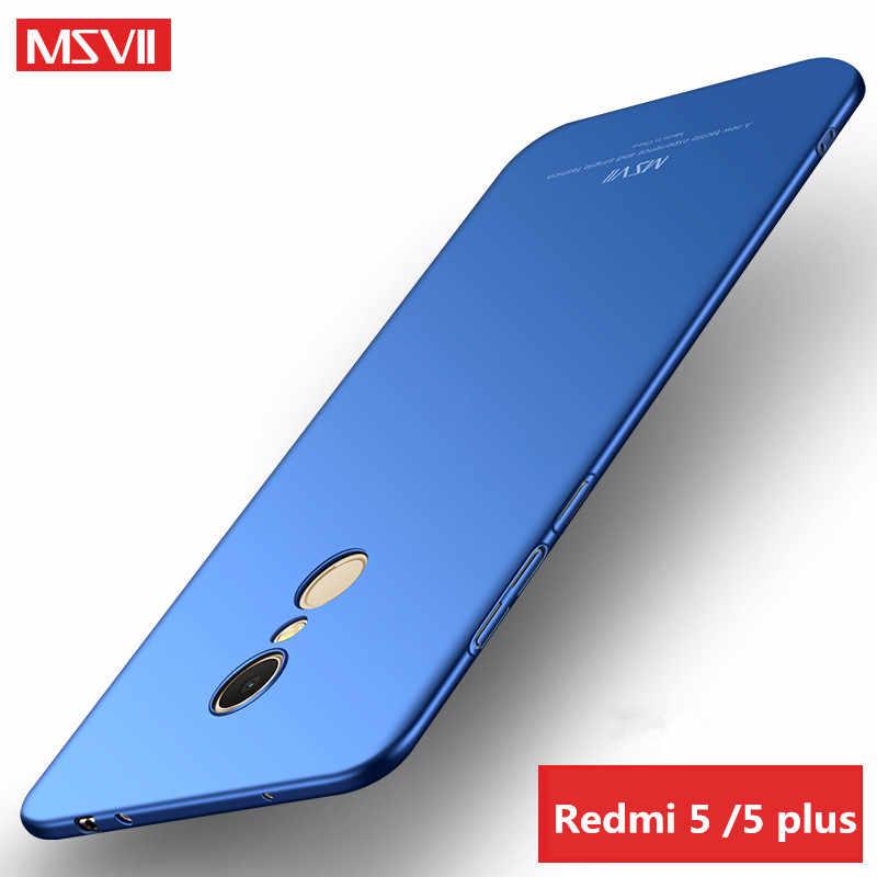 Для xiaomi mi 6 5 5S 5x A1 mi 6 mi 5 max 2 redmi note 4 4X5 плюс 5A рro рrime чехол MSVII Жесткий ПК чехол полностью защищающий телефон