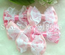 2Upick lace satin ribbon flower bows party crafts wedding appliques