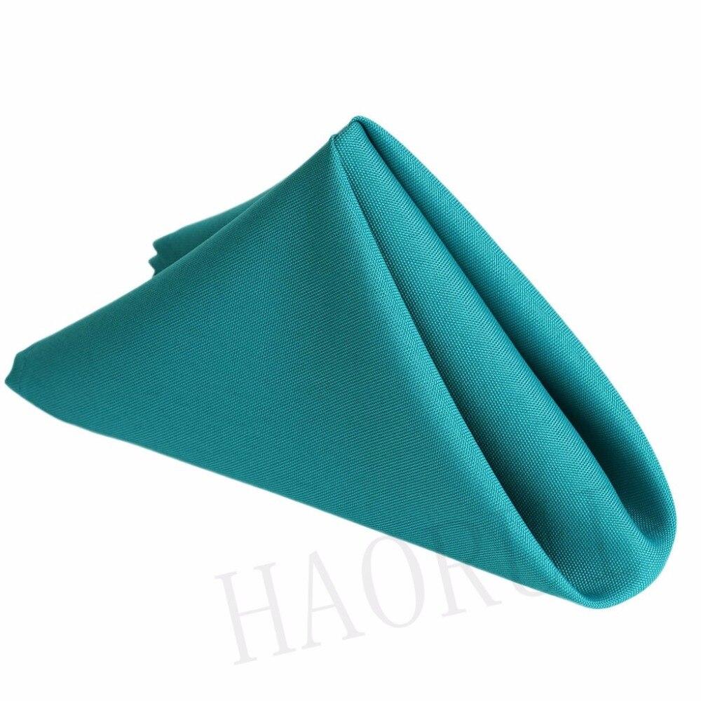 20 X20 Turquoise 100pcs Linen Wedding Table Cotton