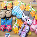 6 Pairs/lot Baby Cartoon Socks Rubber Slip-resistant Floor Socks Infant Socks 0-18M Children Cute Warm Short Bebe Winter Socks