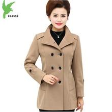 New Spring Autumn Women Jacket Solid Color Middle age Female Casual Tops coat Plus Size Fashion Slim Warm Outerwear OKXGNZ A691
