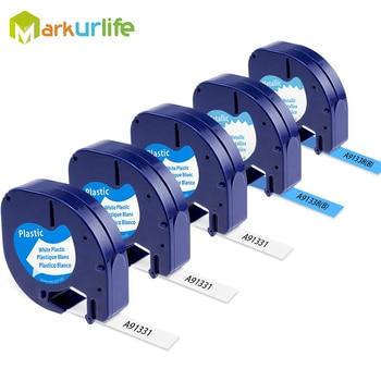 Recambio para DYMO LetraTag recargas 91331 cintas de etiquetado metálicas 91338B para DYMO Label Maker LetraTag Plus LT100H LT100T QX50