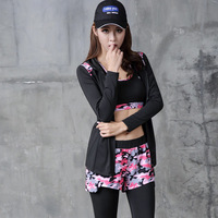 Sports Women Fitness Training Yoga Running Coat Wicking Quick Dry Long Sleeve Hooded Sport Tops