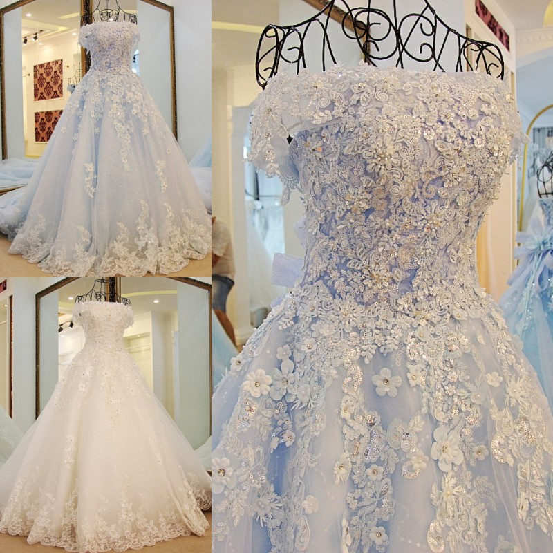 Sparkly Beaded Wedding Dress With Short Jacket White Tulle Sequined Lace Beading Crystal Boat Neck A-Line Wedding Dresses