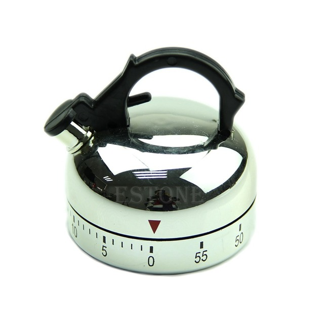 2019 nowy 60 minut liczenia w kształcie czajnika kuchnia gotowanie budzik zegar mechaniczny nowy