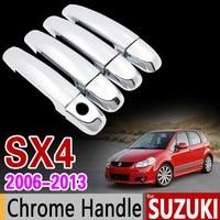 For Suzuki SX4 2006 2013 Chrome Handle Cover Trim Set Fiat Sedici Maruti 2007 2008 2009