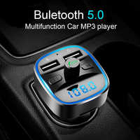 CDEN car mp3 music player Bluetooth 5.0 receiver FM transmitter Dual USB car charger U disk TF card lossless music player