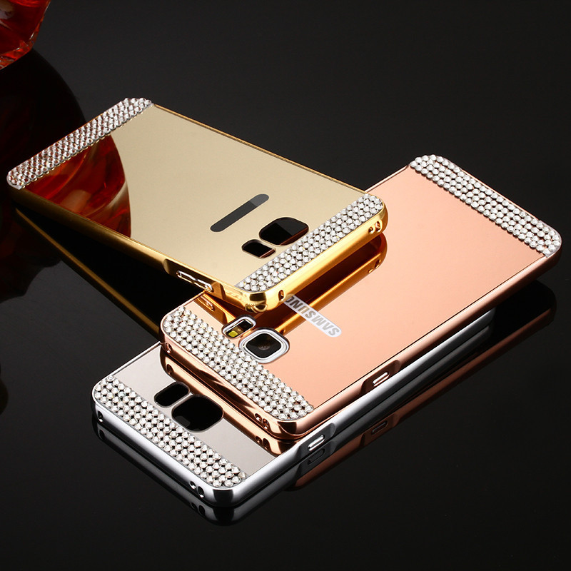 more photos 306da d3186 US $2.76 |MLLSE Luxury Rhinestone Bling Diamond Mirror Back Cover Bumper  Case For Samsung Galaxy J5 J7 2016 2015 J7 J5 Prime J2 Prime on ...