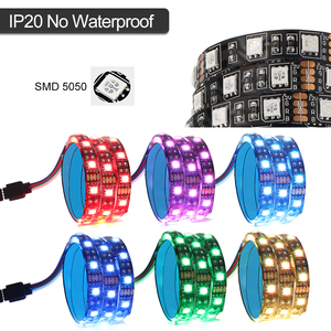 Image 4 - SMD 5050 DC12V RGB Strip LED Strip Flexible Light 60leds/m 2PCS Set for PC Computer Case with SATA Interface+1 to 2 Cable