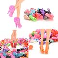 Alta Qualidade 10 Pares Assorted Da Forma de Salto Alto Botas Sapatos Boneca Para Boneca