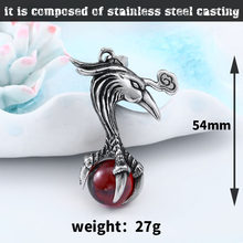 men phoenix necklace cool stone pendant stainless steel personality high quality jewelry(China)