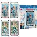 Crianças Brinquedos Snow Queen Princesa Elsa Anna com o Som Do Telefone Móvel Celular Inteligente Eletrônico Educação Infantil Brinquedos