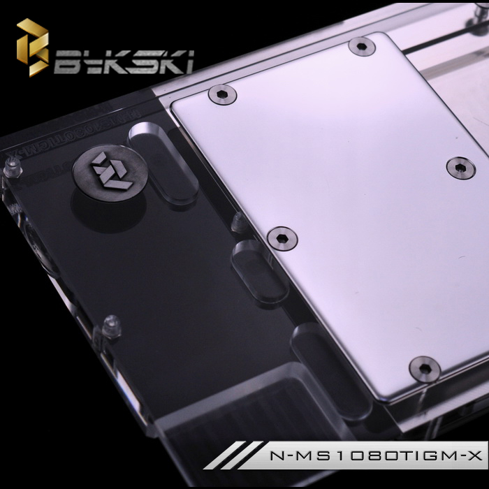 Bykski N-MS1080TIGM-X GPU Water Cooling Block for MSI GTX 1080 Ti GAMING X