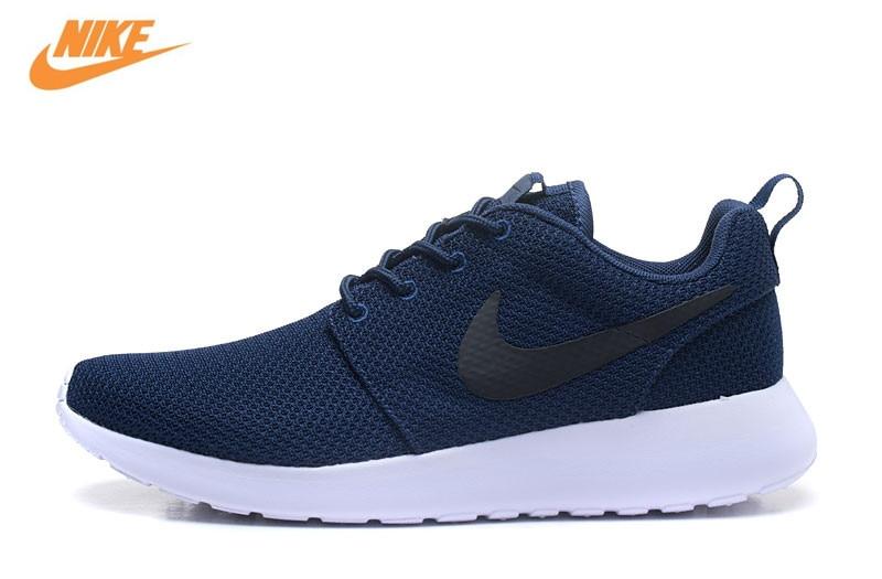 Кроссовки Nike Roshe Run Для мужчин дышащие Кроссовки Спортивная обувь кроссовки 511881-405