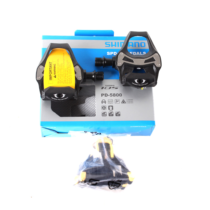 SHIMANO 105 PD 5800 Self-Locking SPD Pedals Components Using for Bicycle Racing Road Bike Parts shimano 105 5800 dual control lever shift lever 2 11s 22s derailleurs road bicycle for tour and relaxing bike components parts