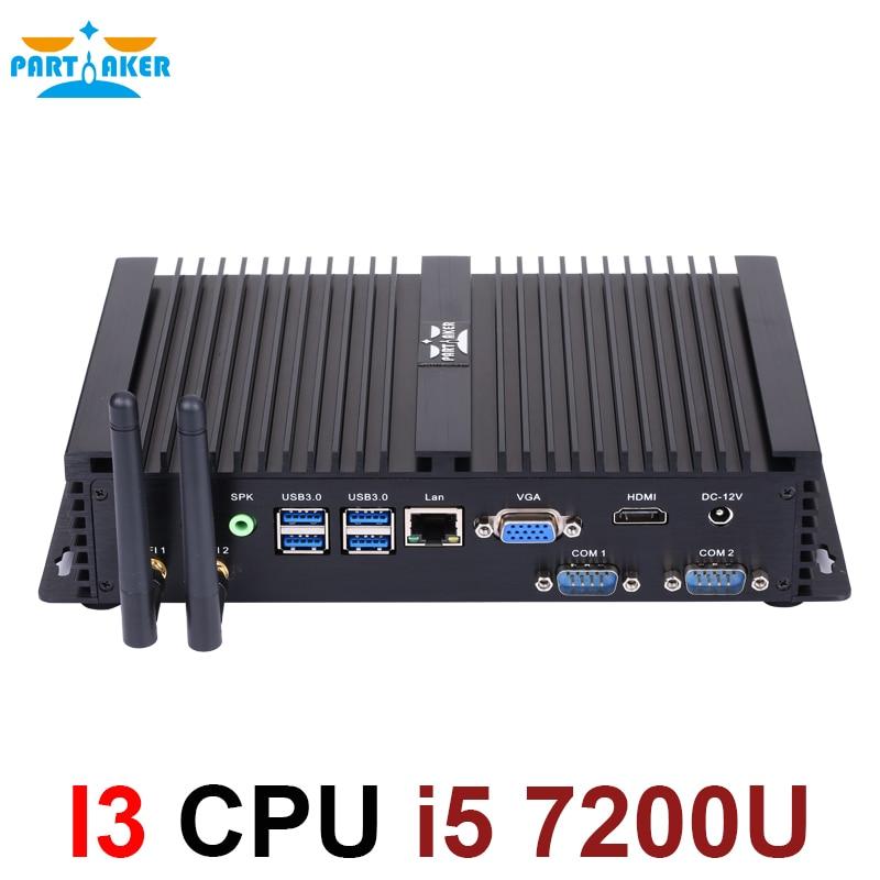 Core I5 7200U Mini PC 4K Ultra HD 3D Blu Ray Mini PC Windows 10 16GB RAM USB 3.0 Minipc Linux Fanless Core I5 Mini Nettop Pc