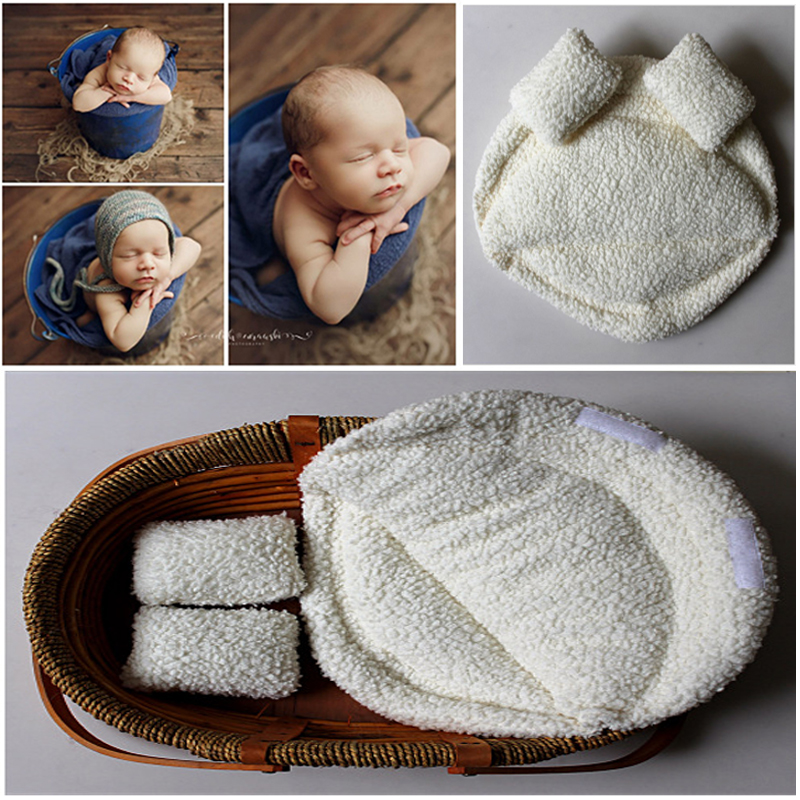 все цены на 2018 New Newborn Photography Props Baby Posing Pillow Newborn Basket Props Baby Photography Studio Infant Photoshoot Accessories