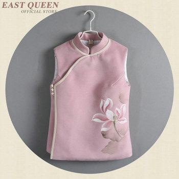 Tradycyjna chińska kamizelka koszula topy dla kobiet stójka orientalna koszula lniana bluzka damska top cheongsam AA4154 tanie i dobre opinie Poliester COTTON WOMEN Czesankowej EASTQUEEN