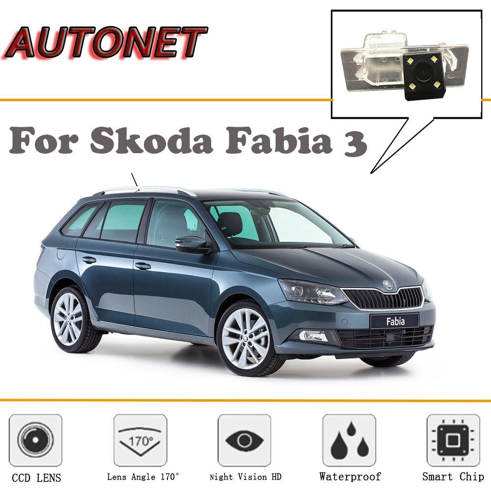 AUTONET Rear View Camera For Skoda Fabia 3 NJ MK3/Combi 2014~2018/CCD/Night Vision/Reverse Camera/license Plate Camera