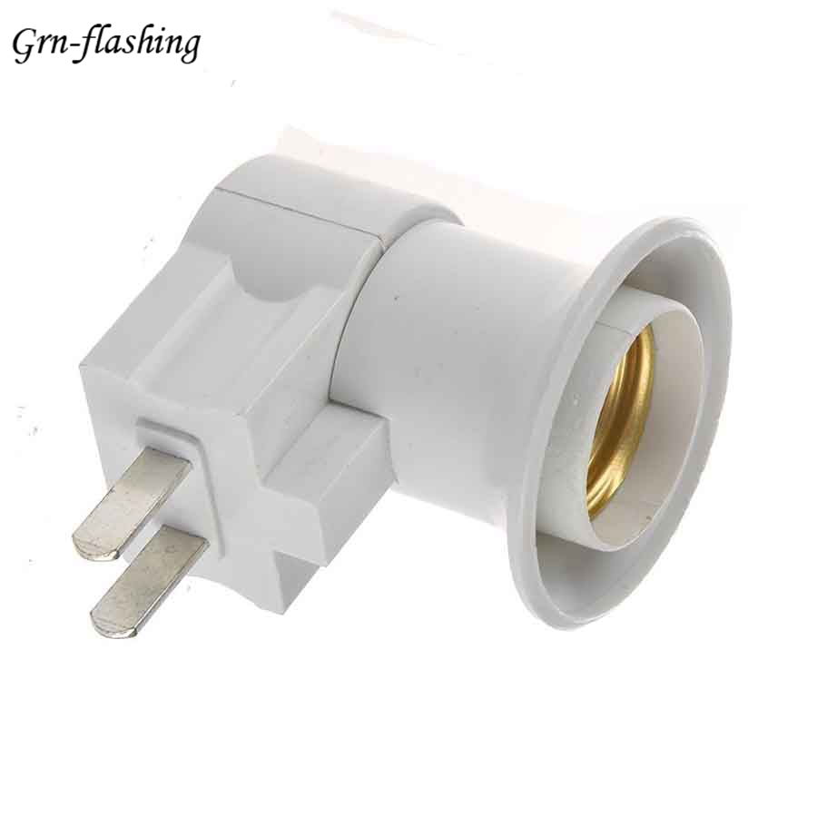 220V 110V US Standard Plug E27 Connector Switch Lampholder Lighting Power Adapter On/off Portable Bulb Holder Insulation Socket